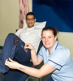 Physiotherapist, Devesh Chohan and Technical Instructor Clare Hannington-Davies.