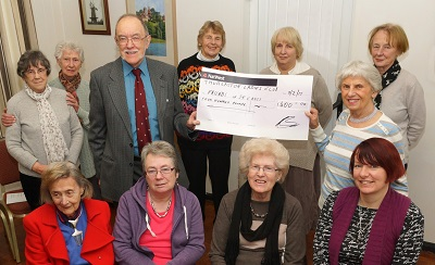 Thurlaston Ladies Club present a cheque for £400
