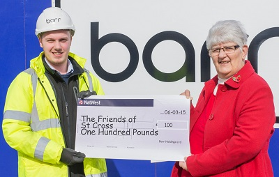 Barr group made a donation of £100 to the friends