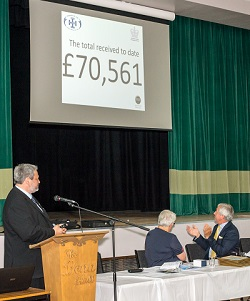 The total received for the Appeal was £70,561