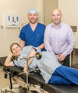 Danielle Loydall, Derrick Hammond and Alan Williamswith the one of the new patient supports